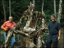Volunteers at Birchanger Wood