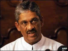 Defeated presidential candidate Sarath Fonseka in Colombo - 28 January 2010