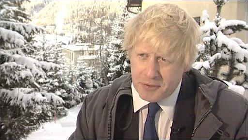 Boris Johnson in Davos