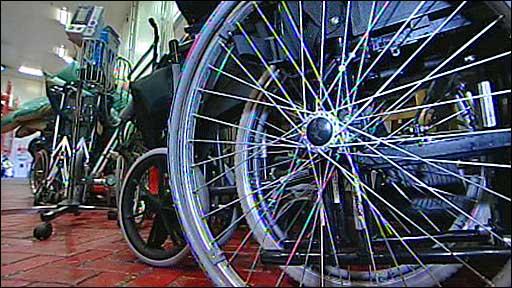 Wheelchairs going to Haiti