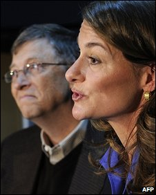 Bill and Melinda Gates at the World Economic Forum