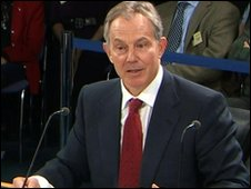 Tony Blair at the inquiry