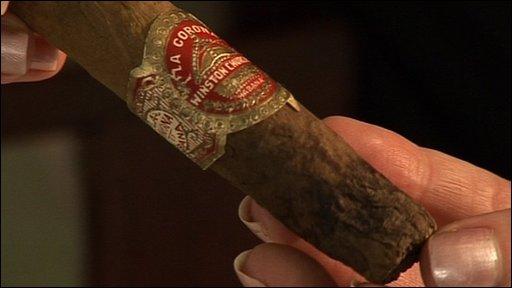 Half smoked cigar