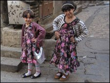 Two Yemeni girls (Photos by Hugh Sykes)