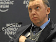 Russian tycoon Oleg Deripaska in Davos on 29 Janaury 2010