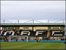 Marine FC's Arriva stadium courtesy of Marine FC