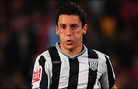 West Brom midfielder Robert Koren