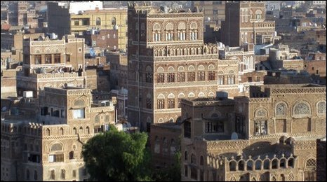 Traditional Yemen tower houses in Sanaa (Photo by Hugh Sykes)