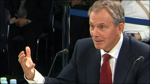 Tony Blair at the Iraq Inquiry
