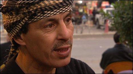 Teashop owner Laith in Baghdad