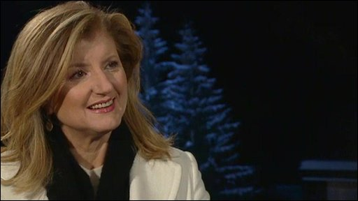 Ariane Huffington of the Huffington Post