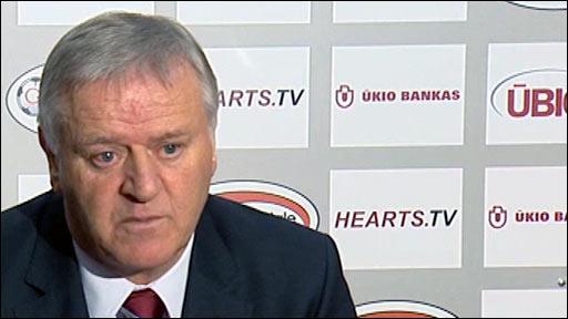 Heart of Midlothian manager Jim Jefferies