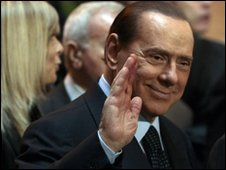 Silvio Berlusconi arrives at high court on 29 January