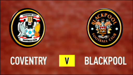 Coventry 1-1 Blackpool