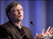 Bill Gates speaking at Davos