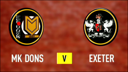 MK Dons 1-1 Exeter