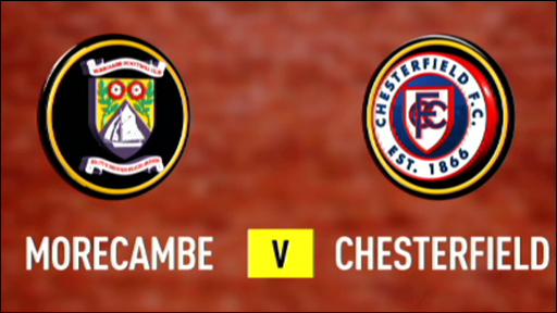 Morecambe 0-1 Chesterfield