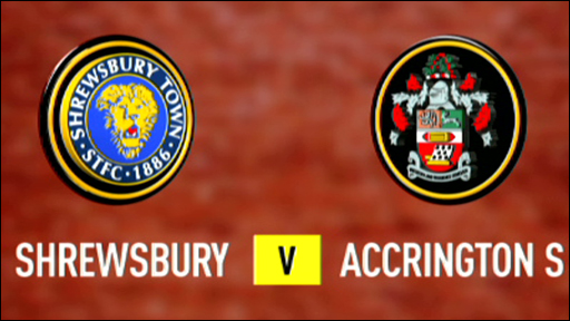 Shrewsbury 0-1 Accrington