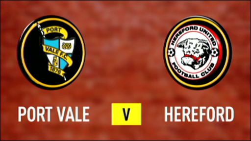 Port Vale 2-0 Hereford