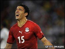 Mohamed Gedo celebrates his goal