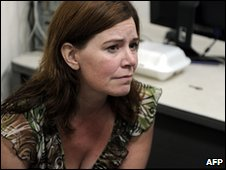 Laura Silsby in a Port-au-Prince police station on 31 January 2010
