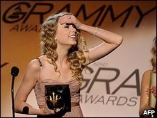 Taylor Swift at the Grammys