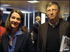Bill and Melinda Gates in DAvos