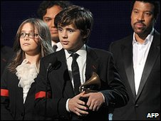 Michael Jackson's children Paris and Prince with Lionel Richie
