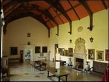The Great Hall at Hartlebury Castle in Worcestershire