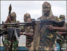 Nigerian oil militants (file photo)