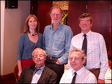 Emily Buchanan with, clockwise: John Norrish, John Henty, Kenneth Wilson, Reg Hunt