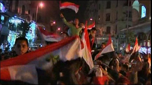 Football celebrations in Cairo