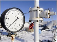A gas pressure gauge in the Russian village of Boyarka (file photo)