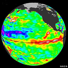 El Nino - 15 January 2010 (Nasa-JPL)