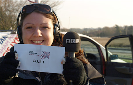 BBC Radio Norfolk's Becky Betts in North Pickenham, Norfolk
