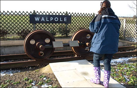 BBC Radio Norfolk's Becky Betts in Walpole, Norfolk