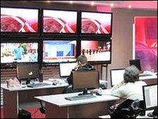 First Caucasian newsroom