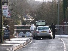 The woman was found on the Killyman Road in County Tyrone
