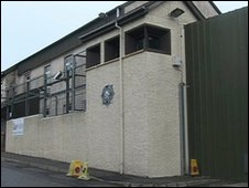 Shots were fired at Bessbrook police station on Sunday evening