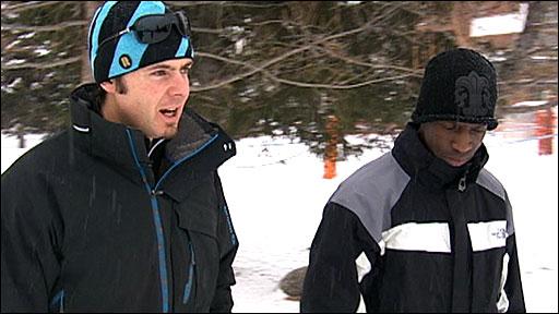 Michael Johnson talks to Antoine Deneriaz
