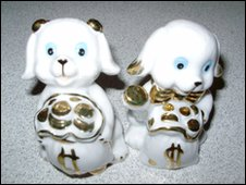 Porcelain dogs from Barbados apparently represents wealth in Barbados