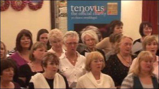 Tenovus 'sing for life' choir