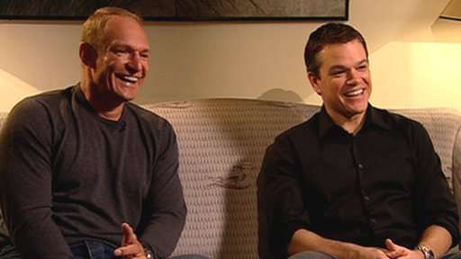 Francois Pienaar and Matt Damon