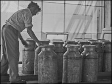 Worker in the former cheese packing plant