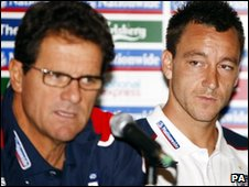 Favio Capello and John Terry