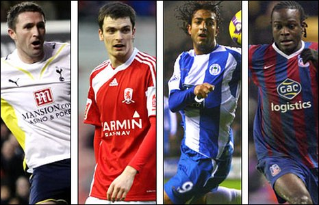 Robbie Keane, Adam Johnson, Mido and Victor Moses