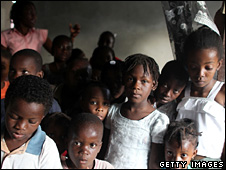 Children at an orphanage in Haiti (31 January 2010)