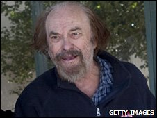 Rip Torn outside Bantam Superior Court