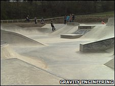 Skate park designed by Gravity Engineering