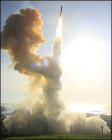 Interceptor launched from Vandenberg Air Force Base, Calif (Photo: MDA)